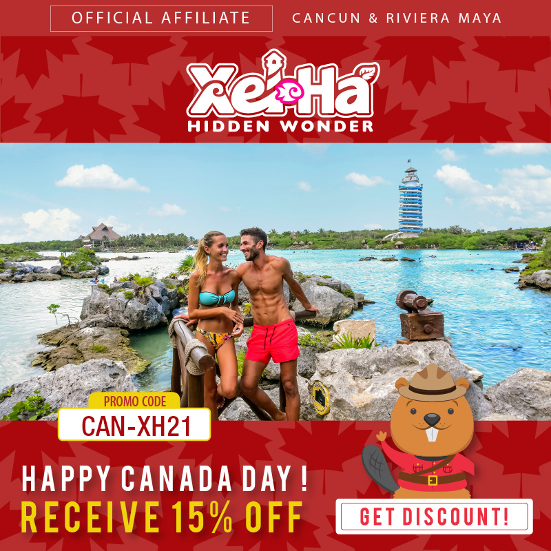 Get 15% off at Xel Há for Canada Day