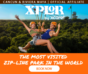Xplor Park the coolest adventure park with zip lines, amphibious, rafts & underground rivers, include buffet meals at Cancun & Playa del Carmen.