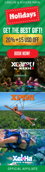Get 20% + $5 USD off on 2-parks combo by Xcaret!