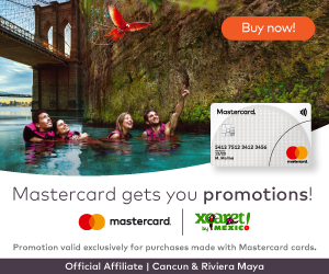 25% OFF at Xcaret parks when purchasing with Mastercard!