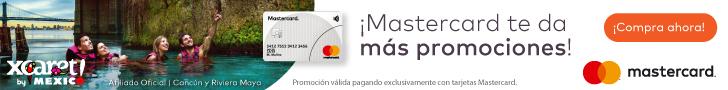 ¡25% en Xcaret pagando con Mastercard!