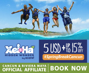 Get a $5 USD discount at Xel-Ha for SpringBreak