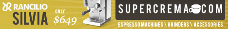 10% off Rancilio Silvia Semi Automatic Espresso Machine at SuperCrema.com
