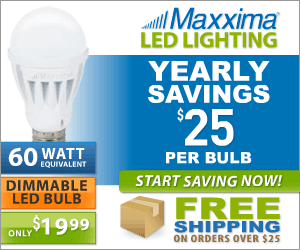 Dimmable A19 LED Light Bulb 1000 Lumens 12 Watts Warm White