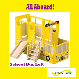 School Bus Loft Kid Furniture