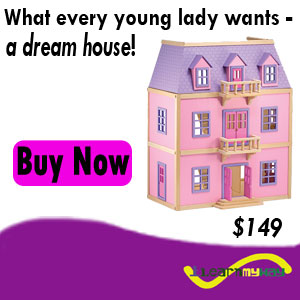 Dollhouse Pink Wooden