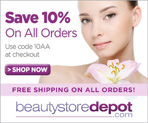 Save 10% on all orders at beautystoredepot with code 10AA + Free Shipping
