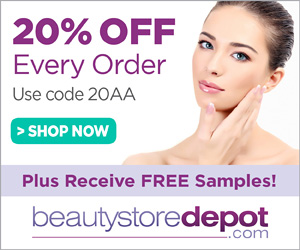 20% Off at beautystoredepot, code 20AA