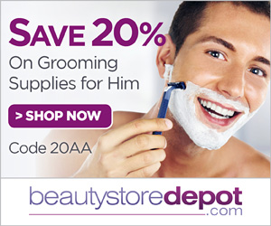 Save 20% on All Men's Grooming at beautystoredepot, code 20AA