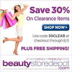 Save 30% on Clearance Items at beautystoredepot!