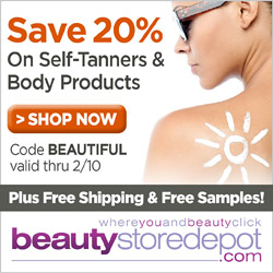20% Off Self Tanner & Body Products, code: BEAUTIFUL