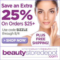 7/22-8/4 25% Off $25+ and Free Ship + Free Samples, code SIZZLE