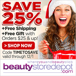 11/24 - 12/1 Sale: 25% Off + Free Ship + Free Gift with Orders $25+, code TIMETOSAVE