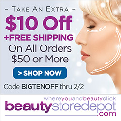 $10 Off $50+ and Free Shipping at beautystoredepot.com, code BIGTENOFF
