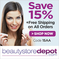 SAVE 15% and FREE Shipping at beautystoredepot.com