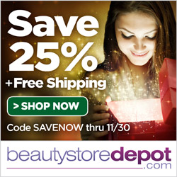 11/24-11/30: 25% Off + Free Shipping at beautystoredepot.com with code SAVENOW
