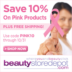 Celebrate Breast Cancer Awareness Month: Save 10% on Pink Products at beautystoredepot