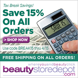 Tax Break - Save 15% on all beautystoredepot orders
