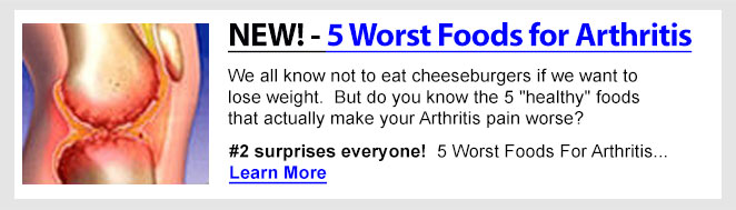 Five Worst Foods for Arthritis