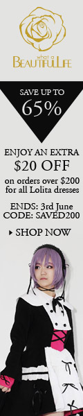 Enjoy an extra $20 off on orders over $200 for all Lolita dresses.