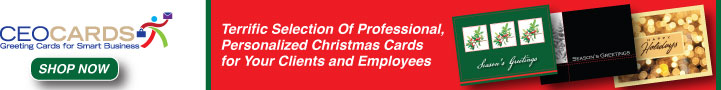 Terrific selection of professional personalized Christmas cards for your clients and employees