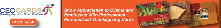Show appreciation to clients and employees with professional personalized Thanksgiving cards