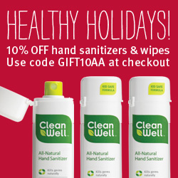 Give the Gift of Health - 10% Off Hand Sanitizers & Wipes