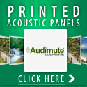 Custom Acoustic Panels with Your Own Image or Logo Printed on the Face