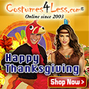 Happy Thanksgiving Costumes and Party Supplies