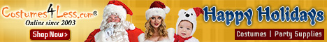 Christmas Costumes & Accessoires, Santa suit, Biblical Gown, Wigs and more