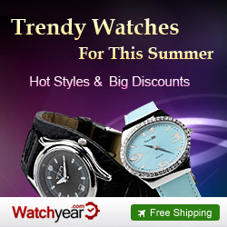 Trendy Watches For This Summer:Big Discounts&Hot Styles,Expires Aug 20th.