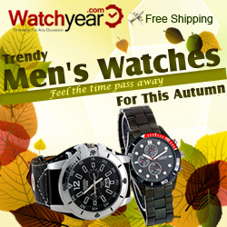 Trendy Men's watches Specila offer .Feel the time pass away for this autumn