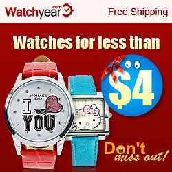 Watches for less than $4 ! Don't miss out !