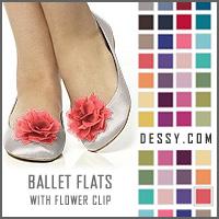 Dessy Crinkle Chiffon Flower Shoe Clip
