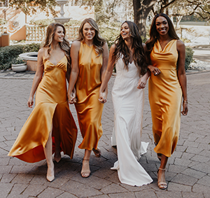 New Collection by The Dessy Group & Lovely Bride! Introducing Lovely Bridesmaids, made with love in your favorite styles, fabrics, and colors, now available exclusively at Dessy.com.