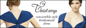 dessy, wrap dress, twist
