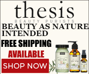 Best organic face and body care products by Thesis Beauty, all natural face masks, moisturizing shower gels, raw shea butter creams, pure baby oil.