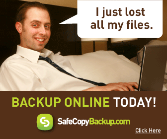 Don't lose your files like this guy.  Backup Online Today with SafeCopy.