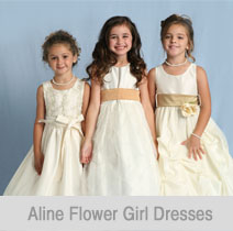 aline flower girl dresses