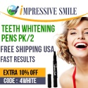 Save $7 on Teeth Whitening Pens 2/PACK – 60 Day Supply - For a limited time, use code: 4WHITE and get additional 10% off.