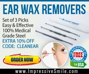 Save $6.50 on HYGIENEAR 3-Piece Set - Ear Wax Pick Remover Curettes. For limited time - Use code: CLEANEAR for additional 10% off
