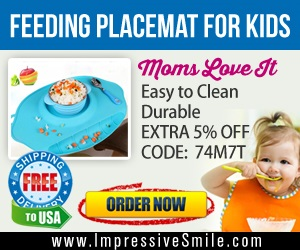 "Save $13 on Silicone Large Feeding Placemat for Kids 17.5"" x 11.5"". For limited time - Use code: 74M7T for additional 5% off"