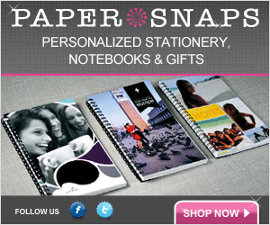 Personalized Stationery and notebooks from Papersnaps.com