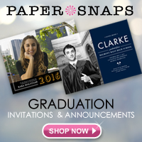 Graduation Invitations from PaperSnaps