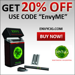 20% off of any order with the code EnvyMe at EnvyCig.com!