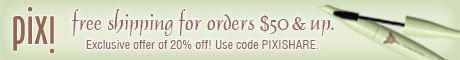 Free shipping on orders over $50 at PixiBeauty.com.  Enter code PIXISHARE for 20% off!