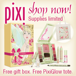Free Gift Box and Free PixiGlow Tote - Buy PixiGlow at PixiBeauty.com