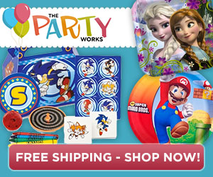 Top Party Themes, Frozen, Mario, Disney at ThePartyWorks.com - $35 and up, Free Shipping