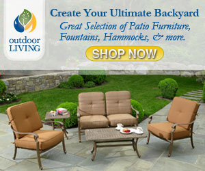 Great Selection of Patio Furniture, Hammocks, Fountains and More!