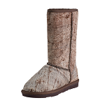 Brown Livies Italian Leather Wool Boots Was $165, Now $82.5, 50% off